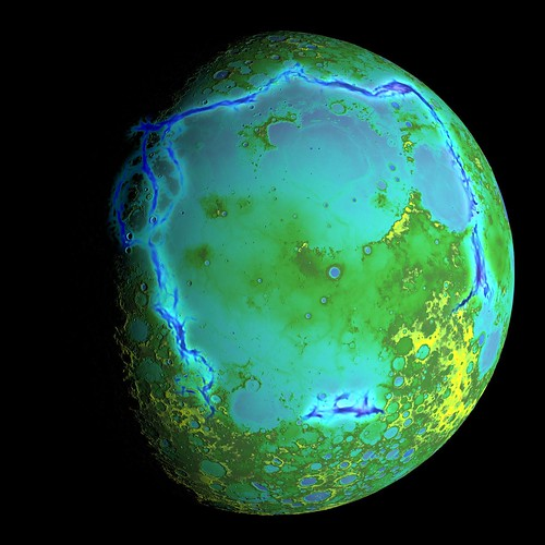 Topography of Earth's moon