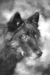 Keyni charcoal drawing (Cruzin Canines Photography) Tags: art animal painting mammal colorado drawing wildlife fineart canine majestic tundrawolf coloradowolfandwildlifecenter