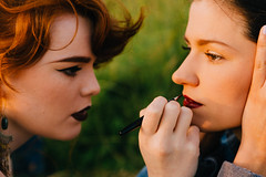 BTS - Aaron Bennett/Charlie Simpson (Billie-Rae) Tags: life sunset red make up fashion bike photography makeup hippy portsmouth behind miss behindthescenes scenes deadly bts bohemium missdeadlyred