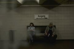 Berlin Metro U7 (Etienne Ster) Tags: old berlin bench grey nikon waiting metro ubahn exit ster ausgang d5100