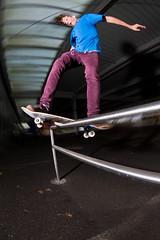 Dario Juhasz - Boardslide (lui summer) Tags: street urban sports sport austria insane jump skateboarding action air spin extreme skating gap fisheye skate skateboard grind stunt strobe extrem skaten fischauge strobist camerspin