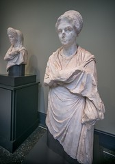 Full length view of a Portrait of a Young Woman from Cyme (in Turkey) 120-130 CE Roman  Marble (mharrsch) Tags: california portrait sculpture woman female turkey roman malibu marble pacificpalisades 2ndcenturyce gettyvilla cyme mharrsch