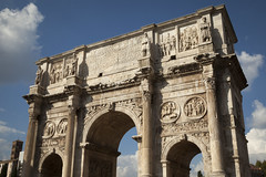 Arch of Constantine - 1 (Paul Dykes) Tags: italy sculpture rome roma italia triumphalarch basrelief archofconstantine ancientrome emperorconstantine