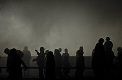 Silhouetten im Nebel (katrin.bohnsack) Tags: silhouette nebel schatten figur dunkel mensch strase