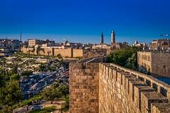 Old city walls of Jerusalem Israel (Gme of light) Tags: israel jerusalem nex6