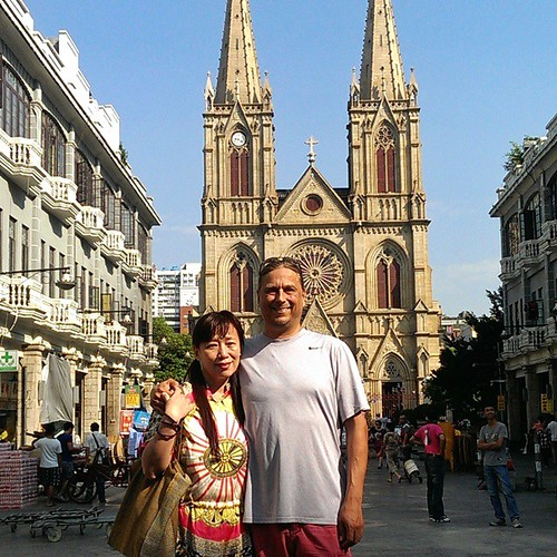Jenny and me in the Sacred Heart Cathedral in #Guangzhou #China