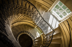 Spiral staircase, Seaton Delaval Hall, Northumberland (DM Allan) Tags: autumn northumberland nationaltrust spiralstaircase seatondelavalhall