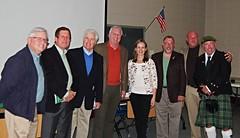 Matt Patterson, Walt Hunter, Bill Daly, Pat McDade, Anna McGillicuddy, Frank Watson, Earl Schandelmeier & Bill Watson