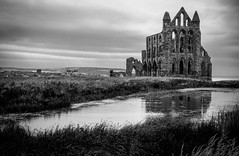 Whitby Abbey (archangel 12) Tags: uk sky blackandwhite abbey whitby whitbyabbey englishheritage olympusm1442mmf3556iir olympusomdem10