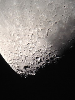Moon with iPhone through 8
