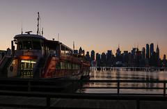 City Sunrise. (GoodApollo_66) Tags: nyc newyorkcity skyline sunrise newjersey manhattan nj midtown hudsonriver empirestatebuilding weehawken 24105 70d