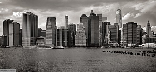 New York City From Brooklyn Shores (B&W Re-edit)