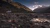 Himalayan Sunrise (Motographer) Tags: camping mountains reflection sunrise river landscape dawn nikon pebble caravan d200 rv motorhome himachal himalayas touring motorcyle himachalpradesh royalenfield sigma1020mm chenab motorcyclegetaways motographer fotografikartz motograffer