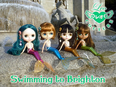 Swimming to Brighton - mermaid collection
