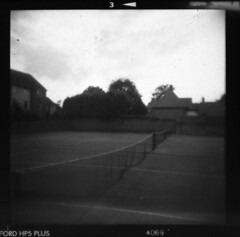 IMG_0007 (TozMoz) Tags: white 3 black court square holga tennis plus hp5 ilford ilfosol