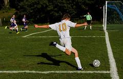 Free Kick (Beth Reynolds) Tags: shadow game sports goal kick soccer