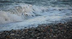 104 Newcastle 280614 wide (Philip D Ryan) Tags: ireland surf eveninglight breakingwave newcastlebeach irishsea countywicklow shinglebeach