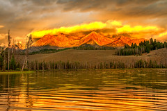 Sunrise On Little Redfish Lake (http://fineartamerica.com/profiles/robert-bales.ht) Tags: blue red usa lake mountains reflection nature water beauty horizontal sunrise wow landscape twilight emotion superb awesome fineart scenic dramatic surreal environmental peaceful panoramic idaho nationalforest evergreen stanley harmony environment rockymountains feeling wilderness peaks spiritual sublime drama sunrisesunset redfish tranquil magnificent inspiring haybales stupendous pristine sawtoothmountains custercounty canonshooter americanalps outdooridaho photouploads robertbales stanleyarea