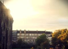 Walmer Crescent (Mazetta) Tags: city sunset urban sun set greek scotland glasgow south s crescent flats alexander thompson tenement walmer skyine cessnock