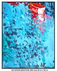 SICH SPIEGELNDER KAHN (CHRISTIAN DAMERIUS - KUNSTGALERIE HAMBURG) Tags: rot boot wasser hamburg himmel grau galerie gelb kai blau ufer hafen reflexion weiss spiegelung schiff schwarz gruen elbe wetter malerei hafenhamburg acrylbilder acrylmalerei kunstdrucke virtuellegalerie auftragsmalerei bilderwerk auftragsbilder norddeutschelandschaften galeriehamburg auftragsmalereihamburg cdamerius hamburgerkünstler malereihamburg christiandamerius bilderleasen landschaftennorddeutschlands bildermieten kunstgaleriehamburg bilderwerkhamburg galerieninhamburg acrylmalereihamburg kunstgalerienhamburg