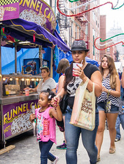 At the Feast of San Gennaro (UrbanphotoZ) Tags: nyc newyorkcity ny newyork hot hat skull downtown drink manhattan daughter mother tshirt littleitaly zigzag funnelcake sangennaro mulberryst thankyouforshoppingwithus monsterhigh