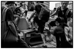 Occupy Central HK - Helping to cross 2 (Malik_AA) Tags: street leica hk umbrella photography democracy m hong kong revolution protests occupy