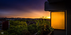 View from the Skylounge (Alexander.Gentzel) Tags: light sky sun purple sundown balcony pano cologne weiden skylounge