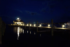 "Manteo at Night • <a style=""font-size:0.8em;"" href=""http://www.flickr.com/photos/43719604@N00/15449570296/"" target=""_blank"">View on Flickr</a>"