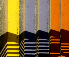 Rainbow Stairs - Ramsgate  (Explore 05/10/14) (only lines) Tags: shadow stairs kent rainbow colours ramsgate thanet