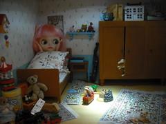 021Day 6:Skeletons in the closet! (Nina) Tags: toys factory blythe custom dollhouse