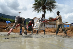 Ebola response: UK constructing treatment centre in Sierra Leone (DFID - UK Department for International Development) Tags: africa medical sierraleone britisharmy sle buildingsite armedforces infection freetown ebola treatmentunit operationgritrock ebolacrisis vanguardenablingbrigade