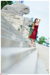 Julia I (lichtfusion.net) Tags: red panorama ballet girl stairs pano hamburg brunette balett f20 brenizer multirow nikond800 bokerama aposonnar1352zf zeissaposonnart2135 sonnar1352zf