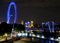 London'14 (609) (Silvia Inacio) Tags: uk bridge light england london thames night londoneye bigben ponte londres noite riotamisa