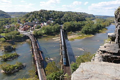 Harpers Ferry, West Virginia (UW1983) Tags: bridges trains amtrak westvirginia harpersferry railroads capitollimited