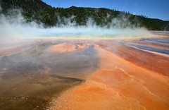 Grand Prismatic (vegetablepredator) Tags: park usa hot nature colors america us spring colours couleurs united grand national yellowstone states parc source prismatic chaude