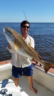 catching big red fish