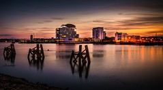 St Davids Hotel from Cardiff Bay (technodean2000) Tags: uk water st wales night marina hotel bay nikon south cardiff davids lightroom d5200