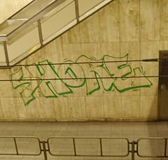 Shore (cocabeenslinky) Tags: street brussels urban streetart green art lumix graffiti october track artist belgium metro photos side panasonic shore graff artiste trackside 2014 cocabeenslinky dmcg6