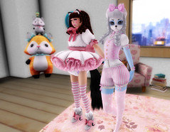 Neka's Wish 2 (littlerowan) Tags: stockings fur furry panda diaper secondlife sissy neko shorts bows petticoat ringlets fursuit pannier anklesocks stripedsocks ouji hairbow catboy kodona abdl curioobscura