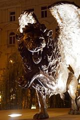 "Czech-03617 - Winged Lion (archer10 (Dennis) 99M Views) Tags: globus sony a6300 ilce6300 18200mm 1650mm mirrorless free freepicture archer10 dennis jarvis dennisgjarvis dennisjarvis iamcanadian novascotia canada czechrepublic prague night wingedlion statue airman memorial ""czech republic"""