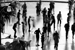 Group dance (Daryl Luk) Tags: havana dance blackandwhite monochrome groupdance cuba shadow youth activity exercise culture