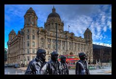 The Likely Lads (Kevin, Mr Manchester) Tags: albertdock architecture building canon1100d canon1855mm clouds cunardbuilding echoarena england gradeilistedbuilding hdr historical kevinwalker liverbirds liverbuilding liverpoolsthreegraces merseyside northwest outdoor panorama panoramic pierhead portofliverpoolbuilding rivermersey royalliverbuilding thewheel wallart waterfront waterways