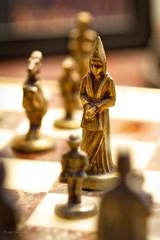 "DSC_7369 - The Brass Queen (Athtart) Tags: thebrassqueen aurora2017 march 52in2017 week12 ""theme depth field queen chess piece board dof shallow pa horsham game"