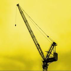 crane (-liyen-) Tags: activeassignmentweekly monotone monochrome yellow crane outdoors sky fujixt1 explore challengeyouwinner experimental