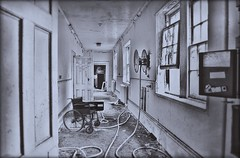 Asylum 'GR' (Michelle O'Connell Photography) Tags: glasgow abandoned abandonedcorridor abandonedasylum abandonedhospital corridor derelict derelictasylum derelicthospital derelictinstitute mentalinstitute sanitorium