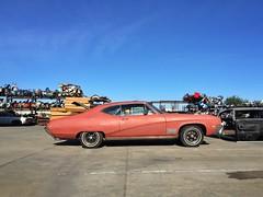 Primary Colors (misterbigidea) Tags: car buick skylark classic red junk junkyard parked hotwheels neighborhood beauty urban scenic metal industrial parts primer auto restoration project