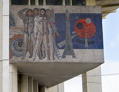 Soviet mosaic (I g o r ь) Tags: cosmonaut space sozrealismus socialrealism sonya7 ussr cccp sovietunion mosaic communism