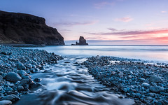 Talisker Twilight (Stoates-Findhorn) Tags: 2017 pebbles rivertalisker scotland seastack skye sleadaleburn sunset talisker taliskerbay twilight unitedkingdom