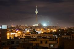 Milad tower at night, Tehran (Chris Brady 737) Tags: milad tower tehran iran persia city nikon d800 night landscape alborz