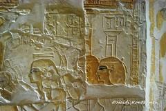 Ancient Egyptian Goddesses (konde) Tags: newkingdom mayaandmeryt saqqara tomb mayaandmerit ancient 18thdynasty goddess nut isis nephtys relief art treasure hieroglyphs